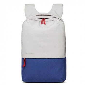 Стильный рюкзак с выходом USB белый с синим class=