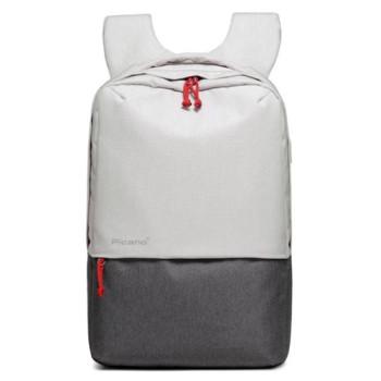 Стильный рюкзак с выходом USB белый с серым class=