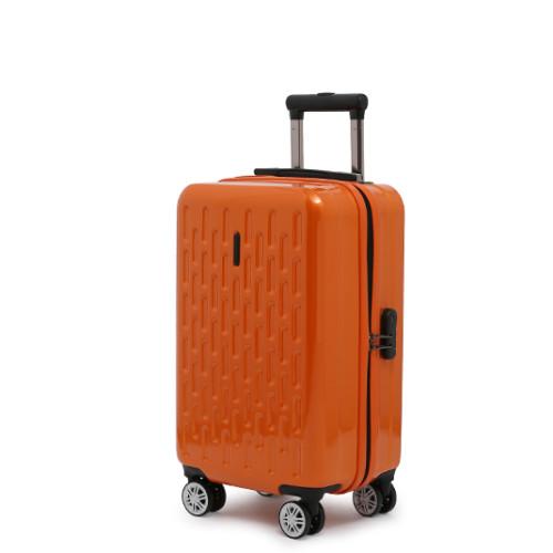 """Яркий оранжевый чемодан на колесах средних размеров 20"""""""