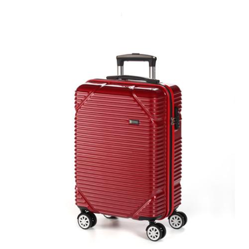 Чемодан на четырех колесах среднего размера цвет красный Ferrari
