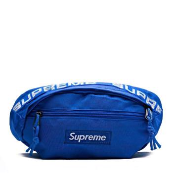 Сумка на пояс синяя class=