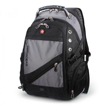 Рюкзак с ортопедической спинкой серый class=