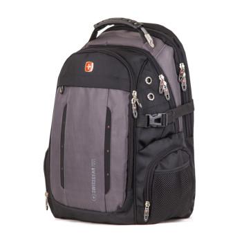 Мужской рюкзак для города черный с серым 35 литров class=