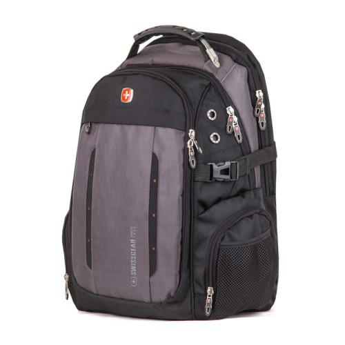Мужской рюкзак для города черный с серым 35 литра