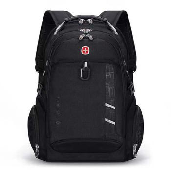 Рюкзак с ортопедической спинкой черный class=