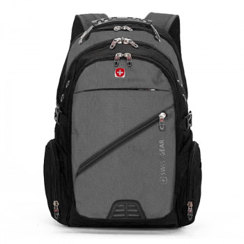 Мужской рюкзак для города серый class=
