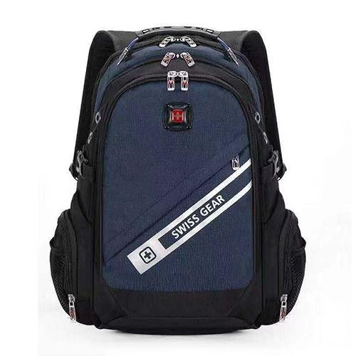 Рюкзак синего цвета с ортопедической спинкой
