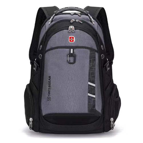 Рюкзак с ортопедической спинкой серый