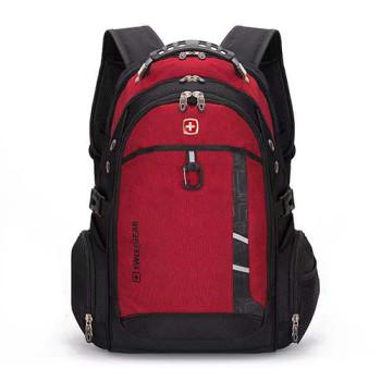 Рюкзак с ортопедической спинкой красный class=