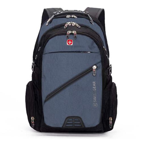 Синий мужской рюкзак для города