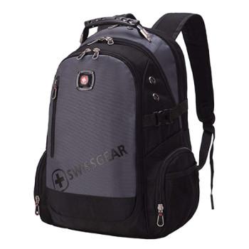 Мужской городской рюкзак серый class=