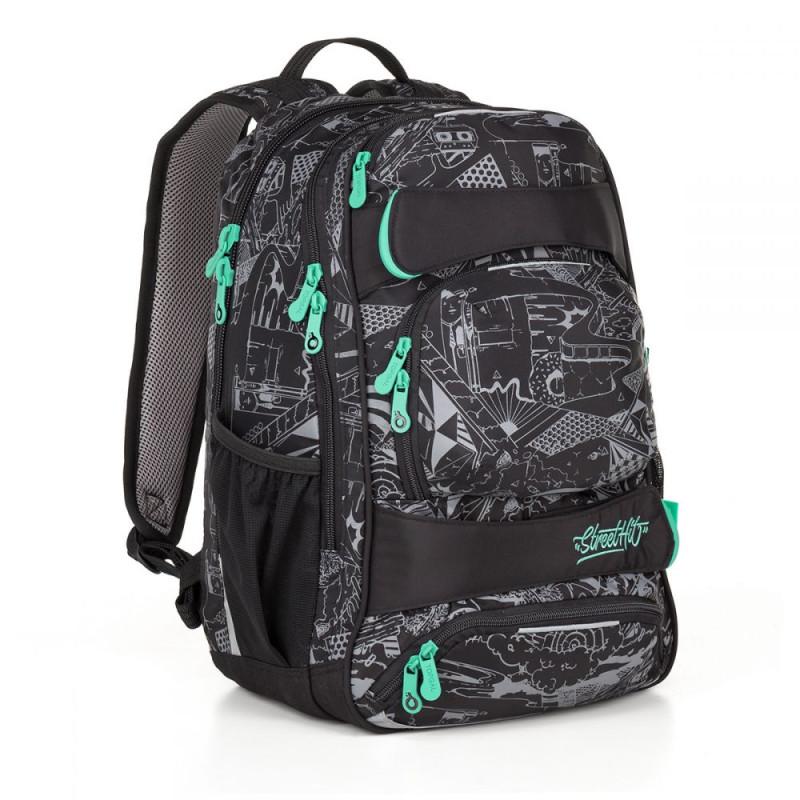 Стильный молодежный рюкзак для парней черный