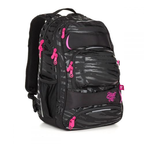 Молодежный рюкзак женский с усиленной ортопедической спинкой черный