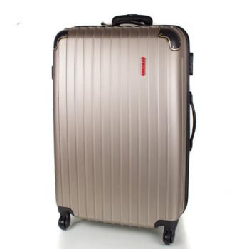 Дорожный чемодан на колесах Gravitt  бронзовый большой размер class=