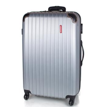 Большой дорожный чемодан на колесах Gravitt серебро class=