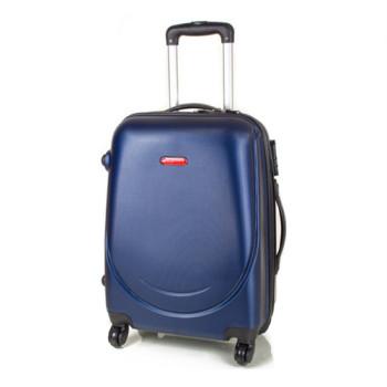 Пластиковый чемодан на 4 колесах Gravitt синий class=