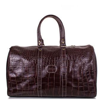 Дорожная сумка мужская кожаная Desisan коричневая class=