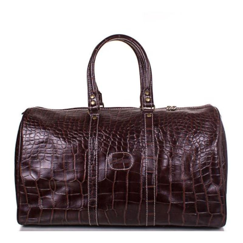 Дорожная сумка мужская кожаная Desisan коричневая