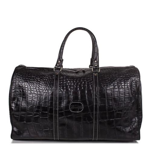 Дорожная сумка мужская кожаная Desisan черная