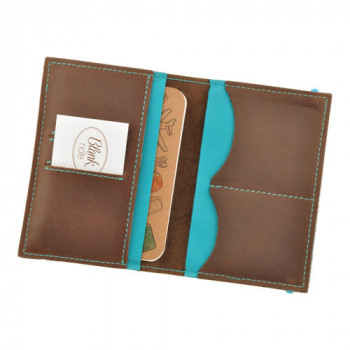 Оригинальная обложка на паспорт Blank Note Орех тиффани Блокнот в пода class=