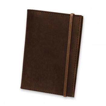 Дизайнерская обложка на паспорт из натуральной кожи Blank Note Цвет Ор class=