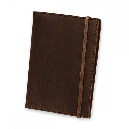 Дизайнерская обложка на паспорт из натуральной кожи Blank Note Цвет Орех Блокнот в подарок