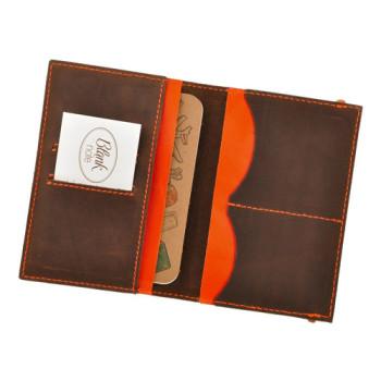 Оригинальная обложка на паспорт Blank Note Орех апельсин Блокнот в под class=
