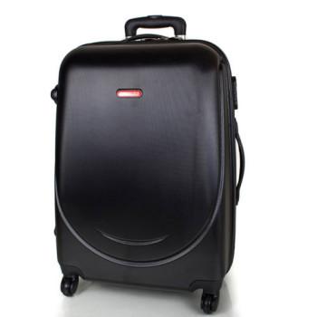 Качественный дорожный чемодан 4 колесах Gravitt черный class=