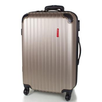 Устойчивый дорожный чемодан на колесах Gravitt бронзовый цвет class=