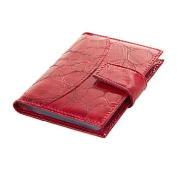 Женская визитница красная на 20 карточек Canpellini class=