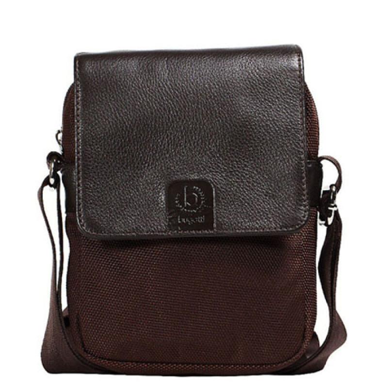 bad8c74a18d6 Купить коричневую сумку с отделкой из натуральной кожи Bugatti ...