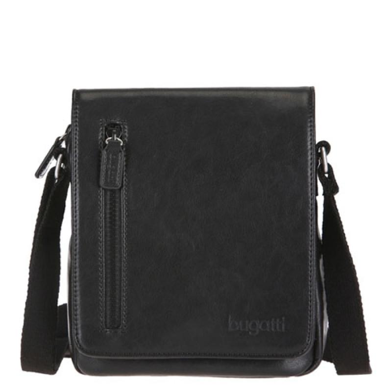 d8a93a1a5692 Купить черную сумку Bugatti на длинном ремне интернет магазин