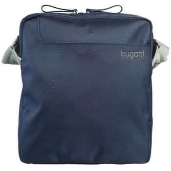 Сумка текстильная на плече Bugatti синяя class=