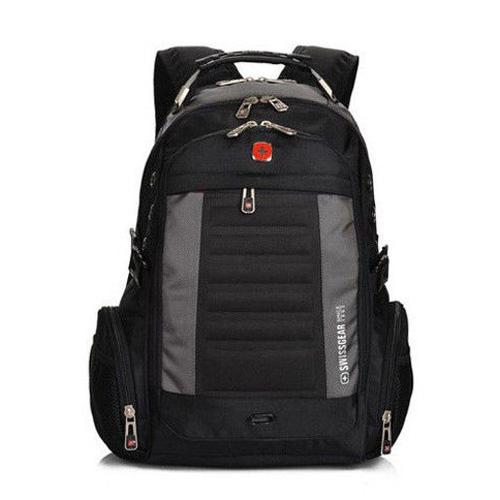 Городской рюкзак с отделением для ноутбука черный с серыми вставками ... da1c87a79c2