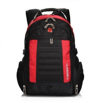 Удобный городской рюкзак черный с красным 33 литра class=
