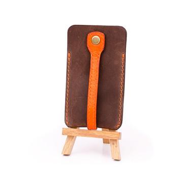 Ключница кожаная коричневая Blank Note Орех-апельсин class=