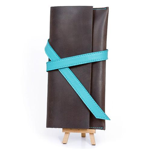 Тревел-кейс из коричневой кожи Blank Note Орех-тиффани