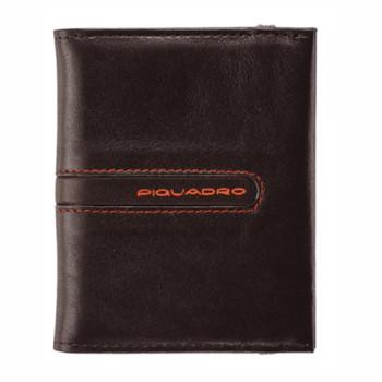 Кредитница из коричневой кожи для 20 кредитных карт Piquadro. Коллекци class=